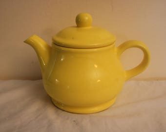 Fitz & Floyd Teapot -- Eye Popping Yellow