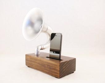 Acoustic Speaker, iPhone Speaker for  4/5/6/7/8, Horn Speaker, Passive Speaker, Portable Speaker, Music Player, Steampunk Speaker, Speaker
