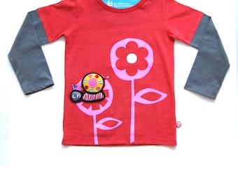 BEEETÚ T-shirt Girlflower + snail
