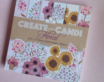 Create with Candi Floral Paper Pad