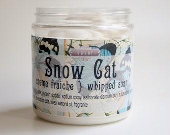 Berry Scented Soap Snow Cat 8 oz Creme Fraiche Whipped Soap VEGAN
