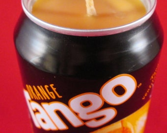 Tango Tin Candle, Tango Candle, Soy Wax Candle, Orange Candle, Satsuma Candle, Recycled Tin Candle, You've been Tangoed, Quirky candle