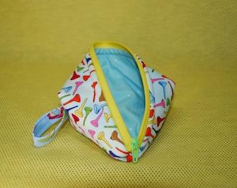 Sweetpea Pods Zippered Pouch, Zippered Bag, Gift Bag, Coin Purse, Golf Tees