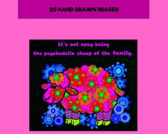 Adult Coloring Book - Quotes & Sayings - Spiral Bound, Cardstock - Adult Colouring Book - Coloring for Grown Ups -20 Hand Drawn Images