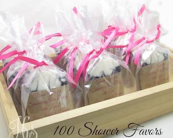 Custom Handmade Guest Soap Bar Favors for Weddings, Showers, Parties, Etc. - Natural Homemade Soap, Handmade Soap