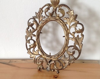 Victorian Styled Picture Frame, Cast Iron Picture Frame