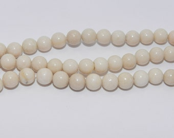 Fossil Beads - Full Strand - 6 mm, Round, Natural - FOSS-R-6