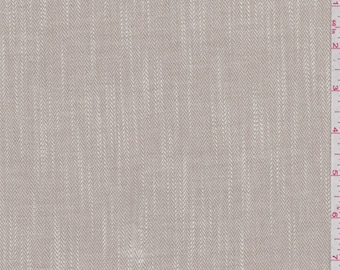 Beige and White Herringbone, Fabric By The Yard