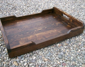 Extra Large Rustic Serving Tray, Ottoman Tray, 30 x 20