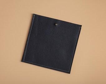 Square Pocket Insert - Indigo Blue Leather