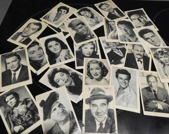 Free shipping-Film stickers, lot of 33 actors' cards