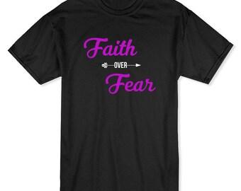 Faith Over Fear My Church My Faith Men's Black T-shirt