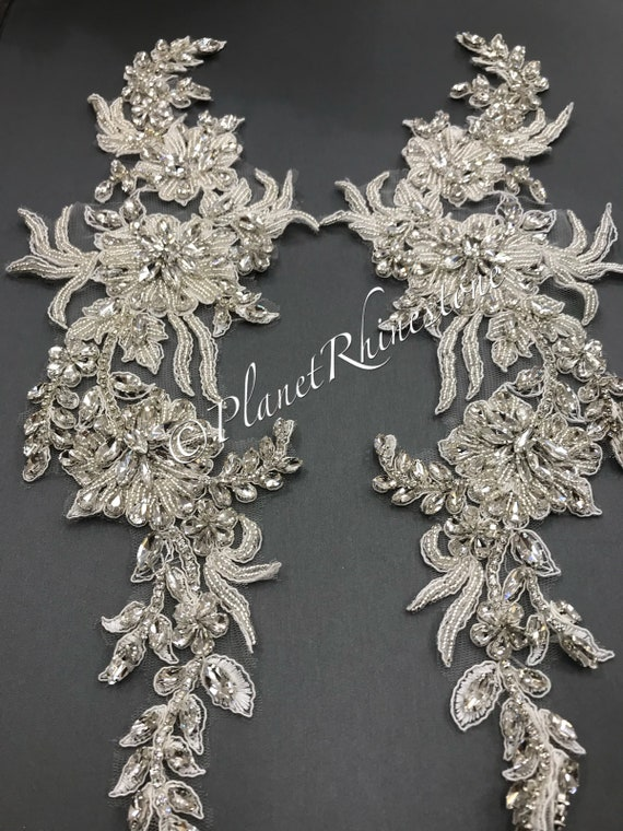 Crystal Lace Applique Pair #LA-2