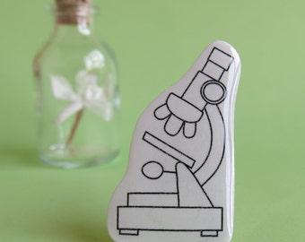 Microscope Brooch