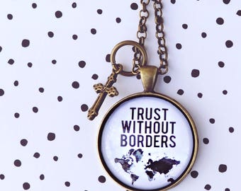 Trust Without Borders Pendant tray Adoption Fundraiser necklace