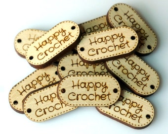 Custom Wood Oval Tags Personalized Small Tags Small Wooden Tags Engraved Knitting Buttons Craft Buttons, Business Tags Laser Cut Logo Wood