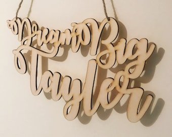 Personalised Laser Cut Name Wall Door Hanging