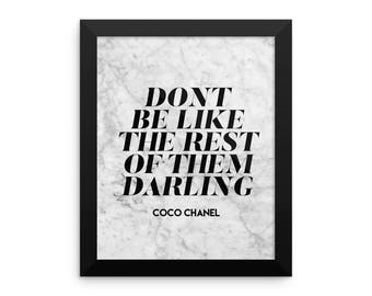 Dont Be . Framed poster