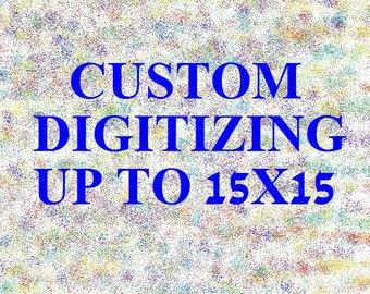 Custom Machine Embroidery Digitizing Flat Rate based on Size, Embroidery Digitizing, Machine Embroidery, Digitizing Service, Custom