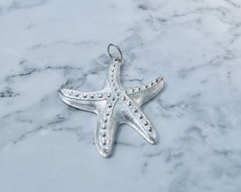 Silver Starfish Pendant Necklace