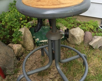 Vintage Industrial Stool Drawing Stool Metal