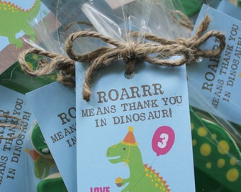 Dinosaur Thank You Tags, Thank You Tags, Dig In silverware tags, Dinosaur Birthday, Dinosaur Printable Tags, Dinosaur Tags, Dinosaur Party