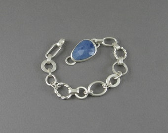 Mixed Chain Bracelet with Sodalite Clasp