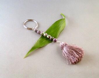 Purple Agate Keychain