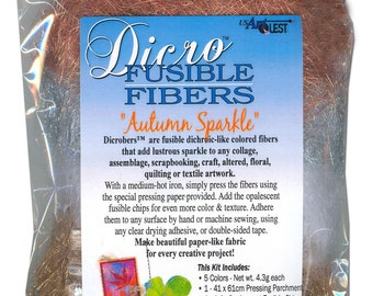 Dicro Fusible Fibers Dicrofibers 5 Pack AUTUMN SPARKLE by USArtQuest