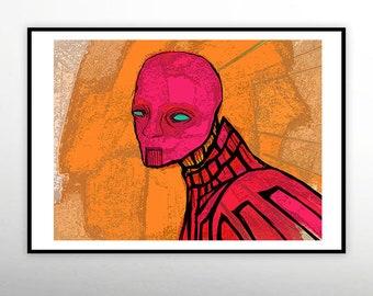 Alien Higher Mind,Art Print