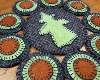 Witchy Penny Folk Art Penny Rug by Just Pennies by Linda - Pattern