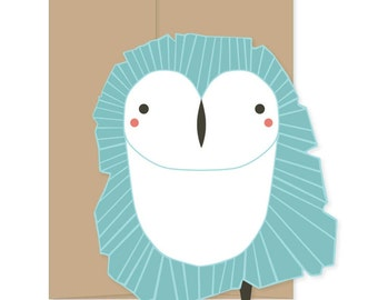8 Blank Owl Cards, Owl Stationery, Owl Greeting Cards, Owl Thank You, Owl Novelty Cards, Boxed Set Cards, Blank Animal Stationery