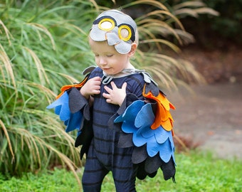 Colourful Bird Costume Boys Kids Costume Bird Mask and Wing Cape Kids Halloween Costume Girs Carnival Costume Toddlers Costume & Childrens Fire bird Costume Phoenix Costume Bird Wings and