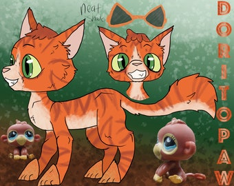 PRE-ORDER Doritopaw Warrior Cats - Truth or Dare: LPS Clay Custom Bobble Head Figure