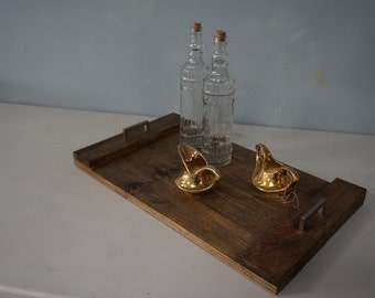 Pallet Wood Tray with Handles