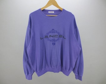 Lancel Sweater Vintage Lancel Paris Activewear Men's Size L Made In Japan