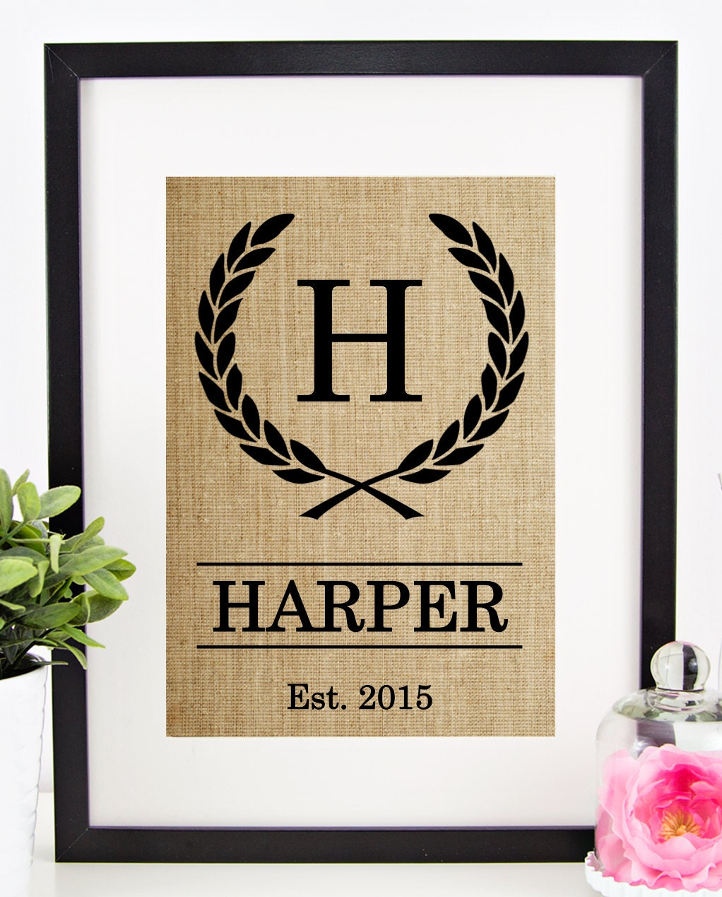 Personalized Country Wedding Gifts: Rustic Wedding Decor Personalized Wedding Gift For Couple