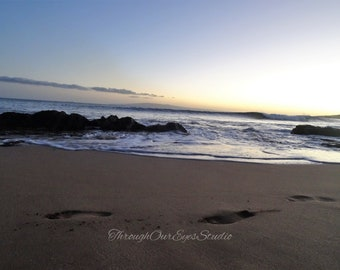 Footprints in the Maui Sand
