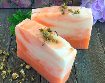 Chamomile Spa Soap, Chamomile Soap,Chamomile herbal soap,Chamomile flower soap, Dry Skin Soap, Calming Soap, Handmade Soap, Handcrafted Soap