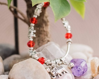 Jasper Elephants Crystal Bracelets