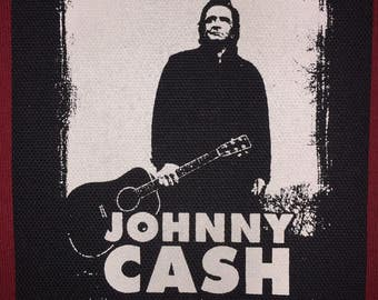 Johnny Cash Cloth Punk Patch