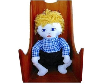 Boy  Doll- Russian or Scandinavian or German Or Ethnicity of Your Choosing With 2 Outfits
