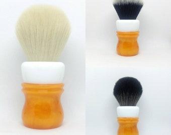 Retro Orange - 24mm or 26mm Tuxedo, 24mm Cashmere, 24mm BOSS, or 24/26mm handle only shaving brush (27mm socket)
