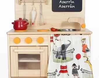 Waldorf Wooden Toy Kitchen-Child's toy kitchen-Wood Kitchen-Natural wooden toy-montessori wooden toy-pretend play kitchen