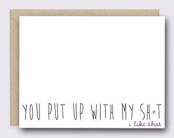 Greeting Card | Naughty Card | Card for Boyfriend | Anniversary Card | Valentines Card | Funny Valentine Card | Love Card | Funny Love Card