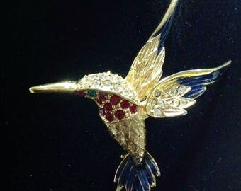 Sphinx  Hummingbird 9997 brooch/pin from the 1970's. Used  but in fantastic  condition .