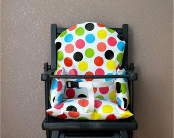 Safety harness for high chair cushion, Chair, baby