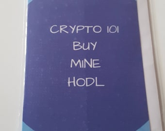Crypto 101 Blank Greeting Cards with a Crypto twist