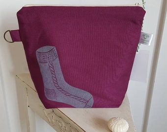 Mulberry Sock Print Project Pouch