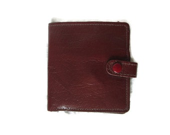 Vintage Brown Leather Made in Scotland Wallet With Coin Pocket Used Condition Worldwide Shipping